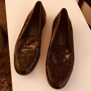Vintage Cole Haan Loafers shoes brown leather